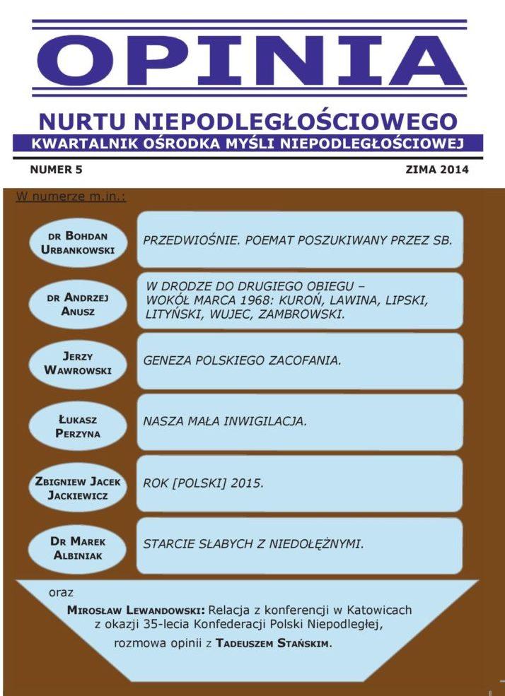 Opinia Nurtu Niepodległościowego nr 5 (PDF)